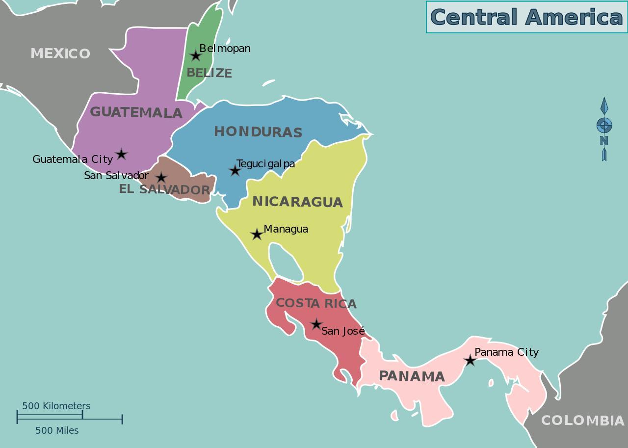 Honduras map central america - Map of Honduras map central america ...