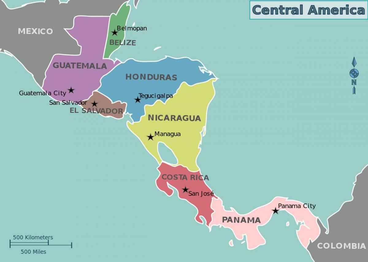 map of Honduras map central america