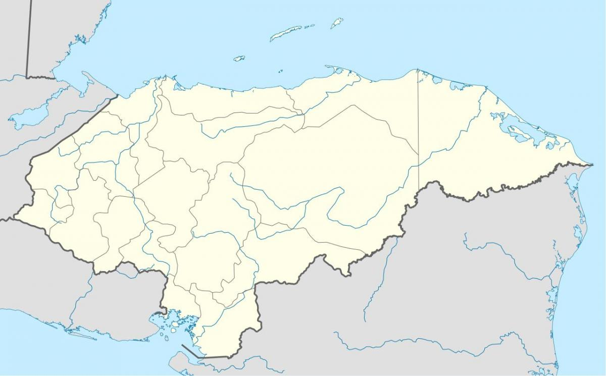 map showing Honduras