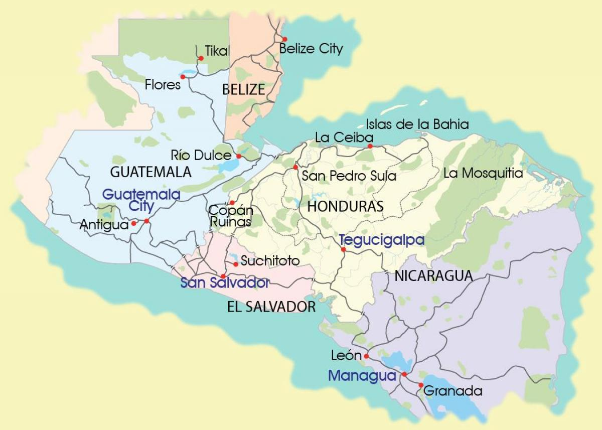 map of mosquitia Honduras