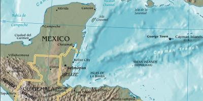 Map of gulf of Honduras