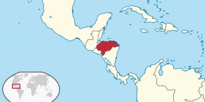Honduras location on world map