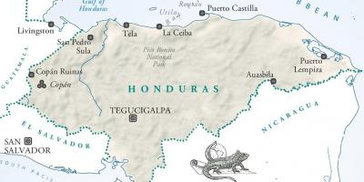 Map of la ceiba Honduras