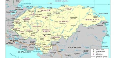 Detailed map of Honduras