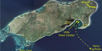 Map of utila Honduras